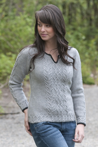 Cascade Yarns® Free 220 Superwash® Sport and 220 Superwash®  Pattern  DK230 Graceful Cabled Tunic