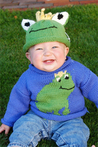 Cascade Yarns®  Free 220 Superwash®  pattern W220 Frog Sweater and Hat