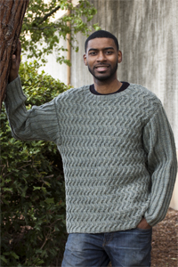 Cascade Yarns®  Free 220 Superwash®  pattern W303 Men's Waves of Ribs Sweater