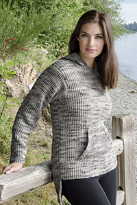 Cascade Yarns®  Free 220 Superwash® Effects pattern W700 In The Hoodie