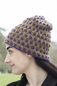 Cascade Yarns®  Free 220 Superwash®  pattern W707 Two Color Weave Hat